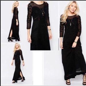 Free People M Say You Love Me Maxi Dress black.